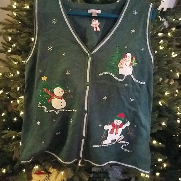 White Stag Sweaters - Christmas sweater vest